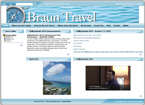 Braun Travel home Page