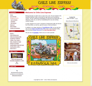 Chile Line Express Home Page