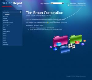Dealer Depot Admin Home Page