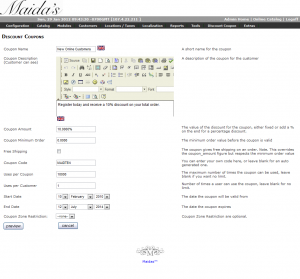 Maidas Discount Coupons