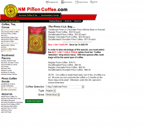 NM Pinon Coffee Attributes