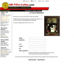NM Pinon Coffee Email List