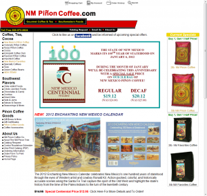 NM Pinon Coffee Home Page