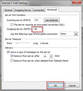 Outlook 2010 Advanced Settings
