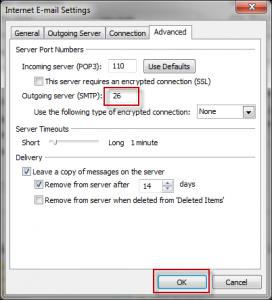Outlook 2010 Advanced Settings