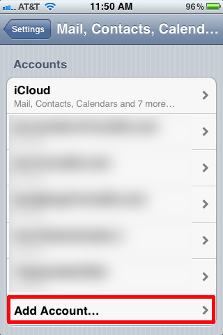 how to add shaw email account on iphone