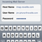iPhone Incoming Mail Server