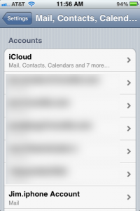 iPhone Account Added